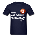 Come And Explore The Beard Men's T-Shirt - navy
