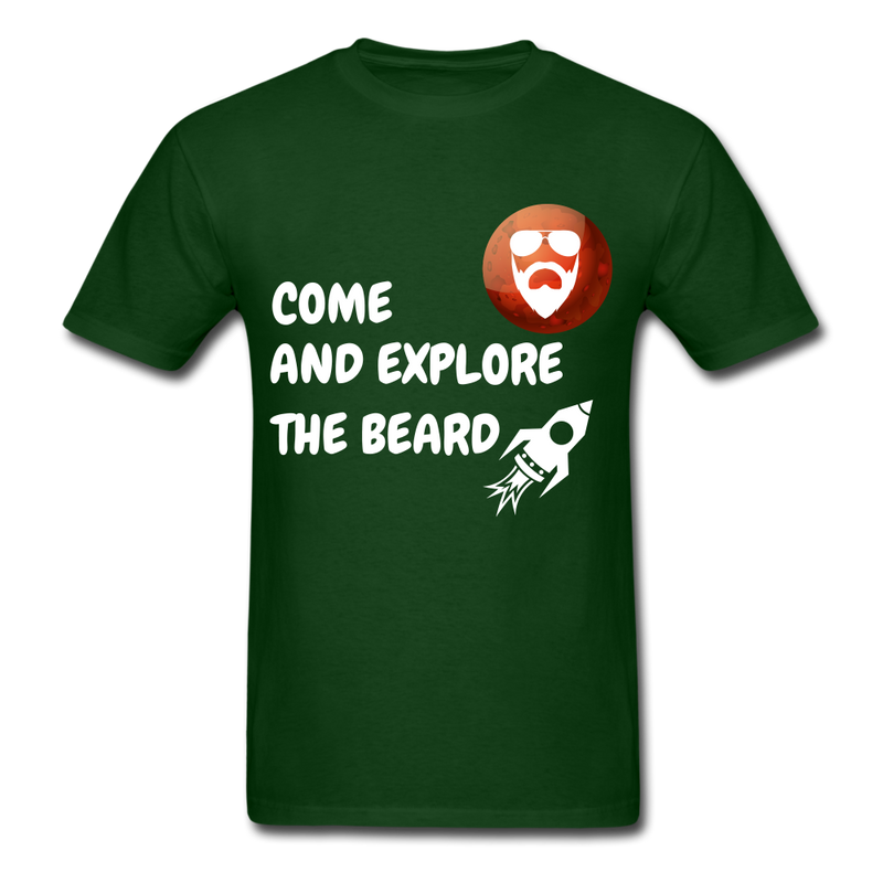 Come And Explore The Beard Men's T-Shirt - forest green