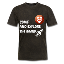 Come And Explore The Beard Men's T-Shirt - mineral black