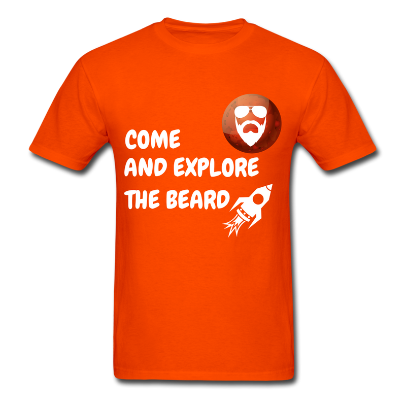 Come And Explore The Beard Men's T-Shirt - orange