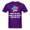 Drink The Beer, Fondle The Beard, Light The Fuse Men's T-Shirt - purple