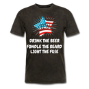 Drink The Beer, Fondle The Beard, Light The Fuse Men's T-Shirt - mineral black