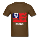 Beard Merica Men's T-Shirt - brown