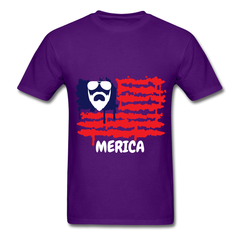 Beard Merica Men's T-Shirt - purple