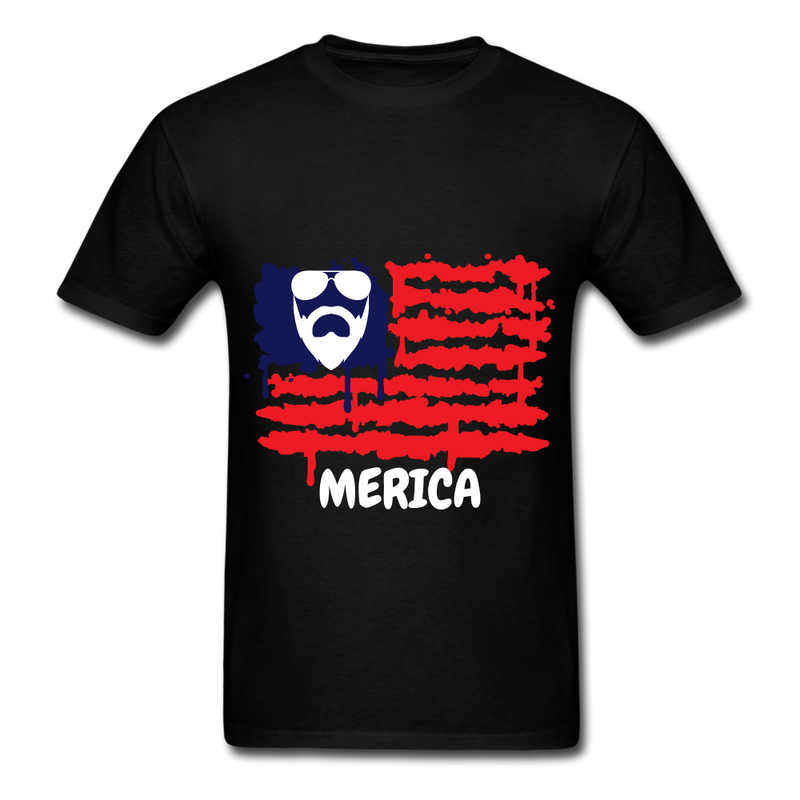 Beard Merica Men's T-Shirt - black