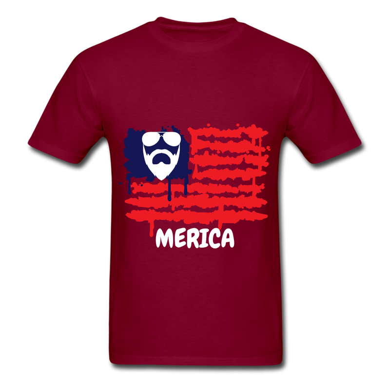 Beard Merica Men's T-Shirt - burgundy