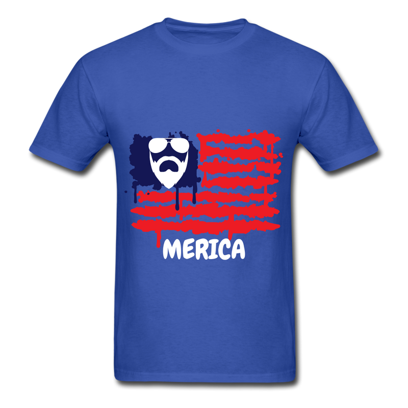 Beard Merica Men's T-Shirt - royal blue