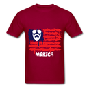 Beard Merica Men's T-Shirt - dark red