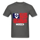 Beard Merica Men's T-Shirt - charcoal