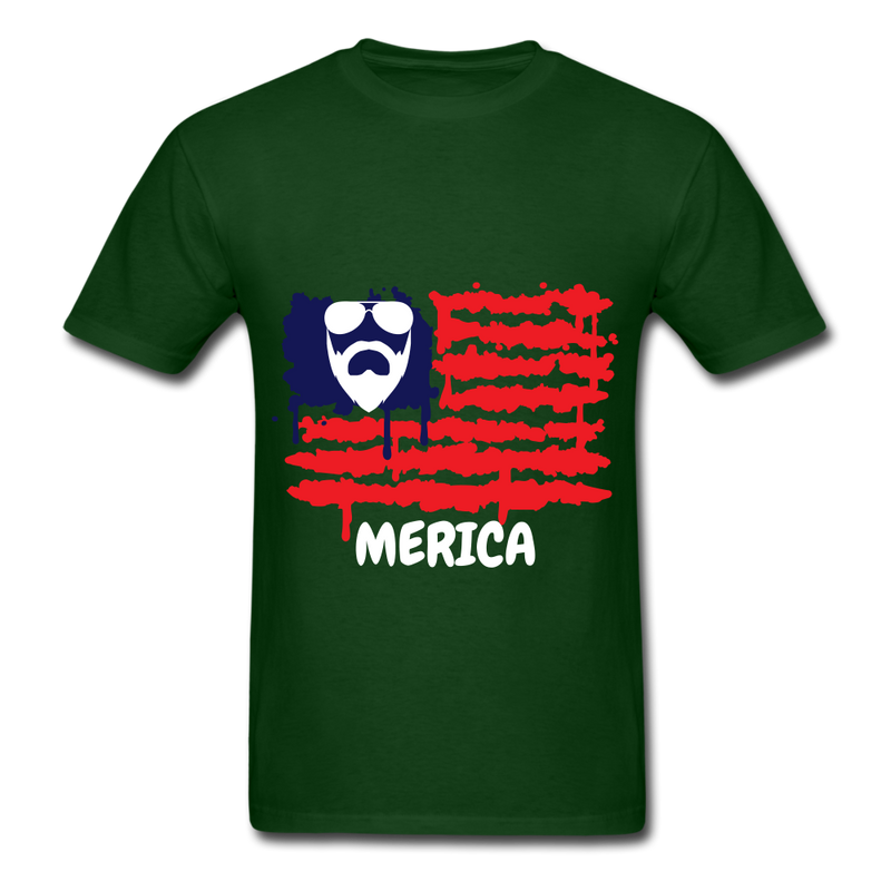 Beard Merica Men's T-Shirt - forest green