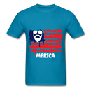 Beard Merica Men's T-Shirt - turquoise