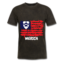 Beard Merica Men's T-Shirt - mineral black