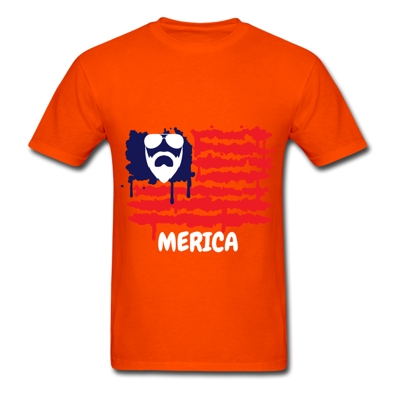 Beard Merica Men's T-Shirt - orange