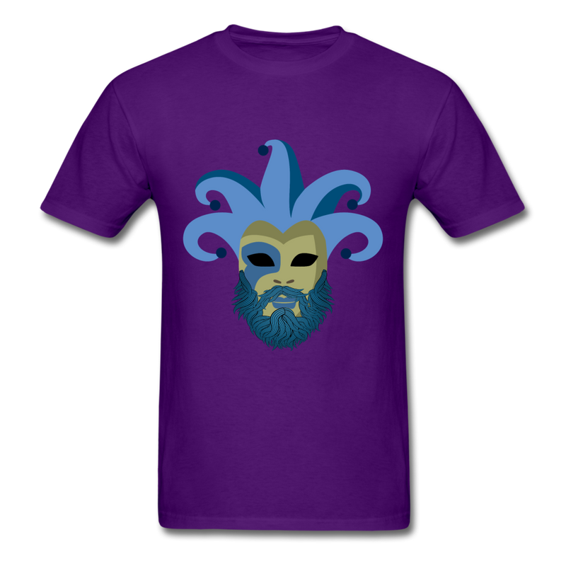 Carnival Beard  Men's T-Shirt - purple