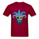 Carnival Beard  Men's T-Shirt - dark red