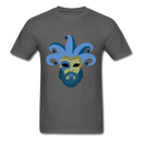 Carnival Beard  Men's T-Shirt - charcoal