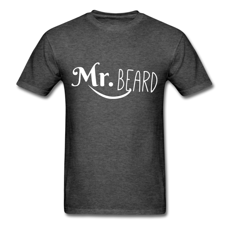 Mr. Beard Men's-Shirt - heather black