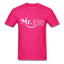 Mr. Beard Men's-Shirt - fuchsia