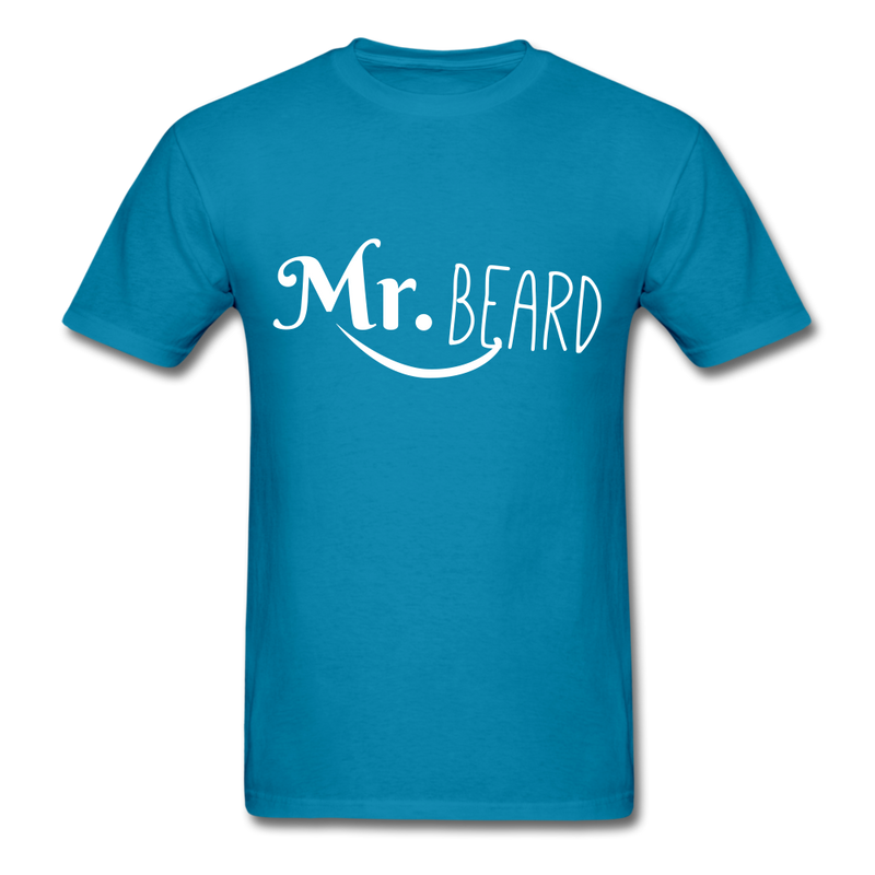 Mr. Beard Men's-Shirt - turquoise