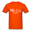 Mr. Beard Men's-Shirt - orange