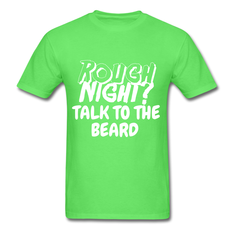 Rough Night? Talk To The Beard Men's T-Shirt - kiwi