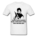 Under Chuck Norris's Beard, There Isn't A Chin Only Another Fist Men'sT-Shirt - white