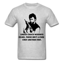 Under Chuck Norris's Beard, There Isn't A Chin Only Another Fist Men'sT-Shirt - heather gray