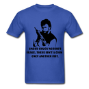 Under Chuck Norris's Beard, There Isn't A Chin Only Another Fist Men'sT-Shirt - royal blue