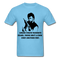 Under Chuck Norris's Beard, There Isn't A Chin Only Another Fist Men'sT-Shirt - aquatic blue