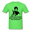 Under Chuck Norris's Beard, There Isn't A Chin Only Another Fist Men'sT-Shirt - kiwi