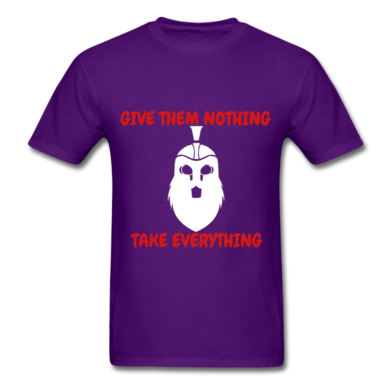 Give Them Nothing, Take Everything Men's T-Shirt - purple
