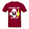 My Beard Is Here Men's T-Shirt - dark red