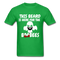 This Beard Is Here For The BooBees Men's T-Shirt - bright green
