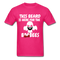 This Beard Is Here For The BooBees Men's T-Shirt - fuchsia
