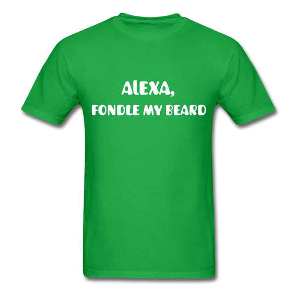 Alexa, Fondle My Beard Men's T-Shirt - bright green