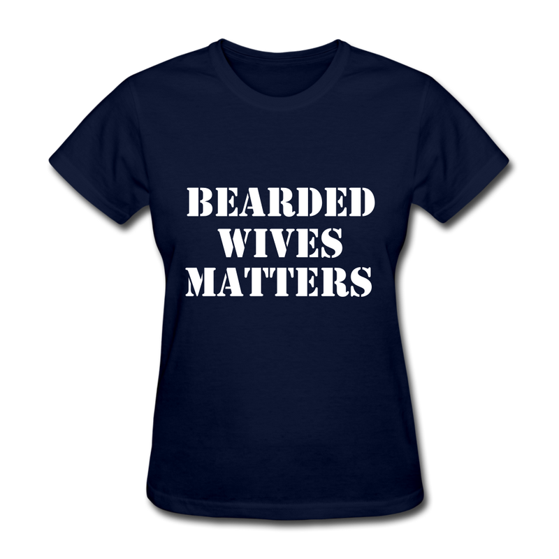 Bearded Wives Matters Women's T-Shirt - navy