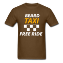 Beard Taxi Free Ride Men's T-Shirt - brown