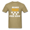 Beard Taxi Free Ride Men's T-Shirt - khaki