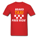 Beard Taxi Free Ride Men's T-Shirt - red
