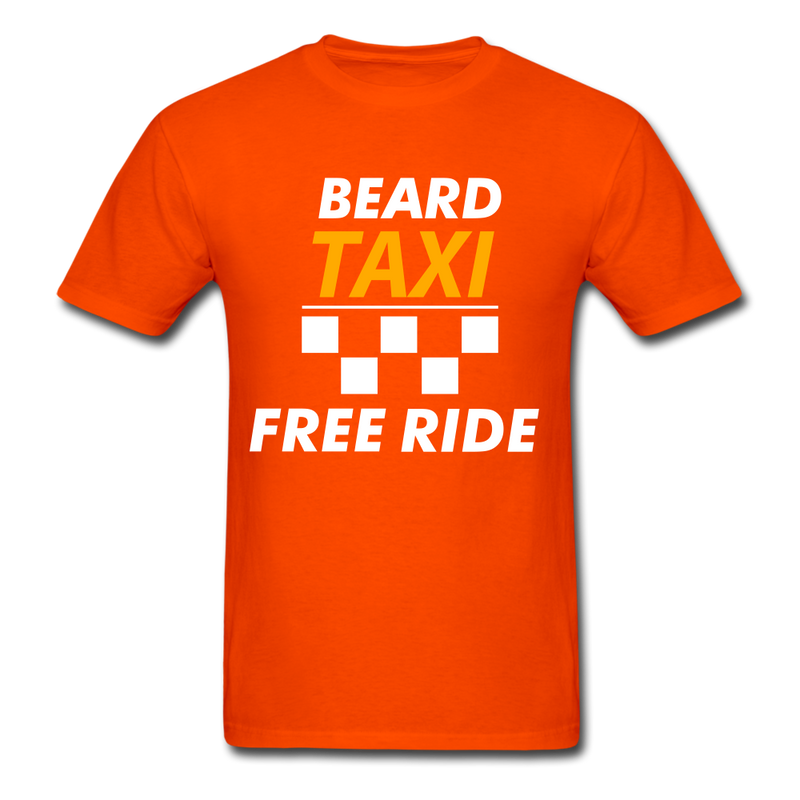 Beard Taxi Free Ride Men's T-Shirt - orange
