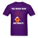 This Beard Runs On Donuts Men's T-Shirt - purple