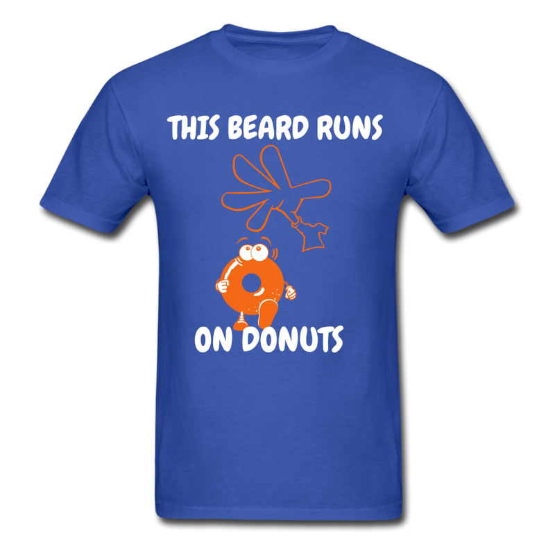 This Beard Runs On Donuts Men's T-Shirt - royal blue