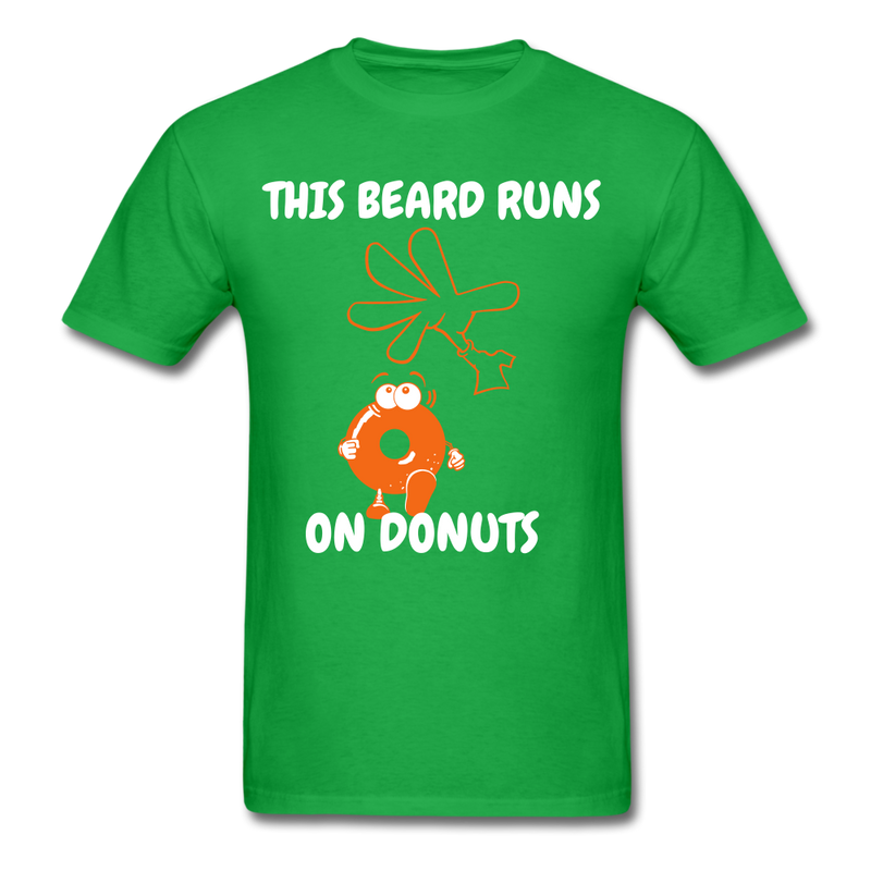 This Beard Runs On Donuts Men's T-Shirt - bright green