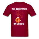This Beard Runs On Donuts Men's T-Shirt - dark red