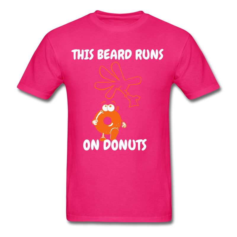 This Beard Runs On Donuts Men's T-Shirt - fuchsia