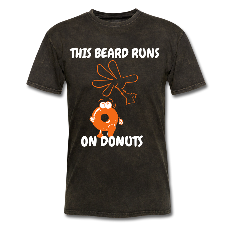 This Beard Runs On Donuts Men's T-Shirt - mineral black