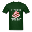 I'm The Cake And My Beard Is The Icing Men's T-Shirt - forest green