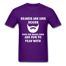 Beards Are Like Boobs Even The Small Ones Are Fun to Play With Men's T-Shirt - purple