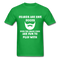 Beards Are Like Boobs Even The Small Ones Are Fun to Play With Men's T-Shirt - bright green