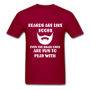 Beards Are Like Boobs Even The Small Ones Are Fun to Play With Men's T-Shirt - dark red